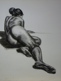 Foreshortened Woman